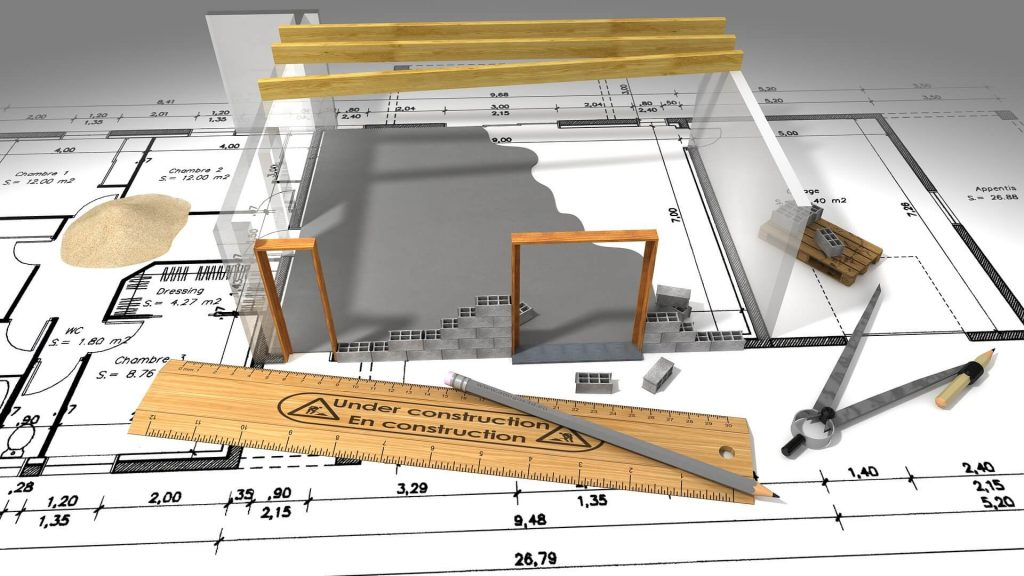 3D tekening huis en tuin
